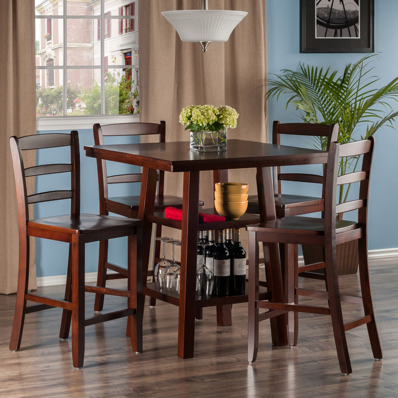 Winsome Orlando 5 Piece Counter Height Dining Table Set For Newest Pennside Counter Height Dining Tables (View 10 of 15)
