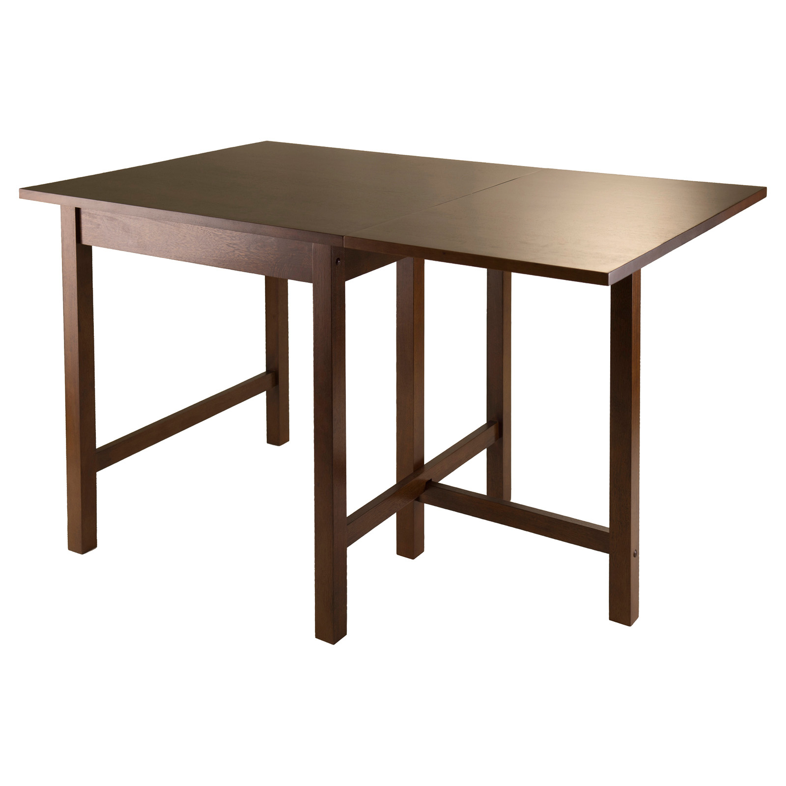 Winsome Trading Lynden Drop Leaf Dining Table – Antique In 2017 Adams Drop Leaf Trestle Dining Tables (View 7 of 15)