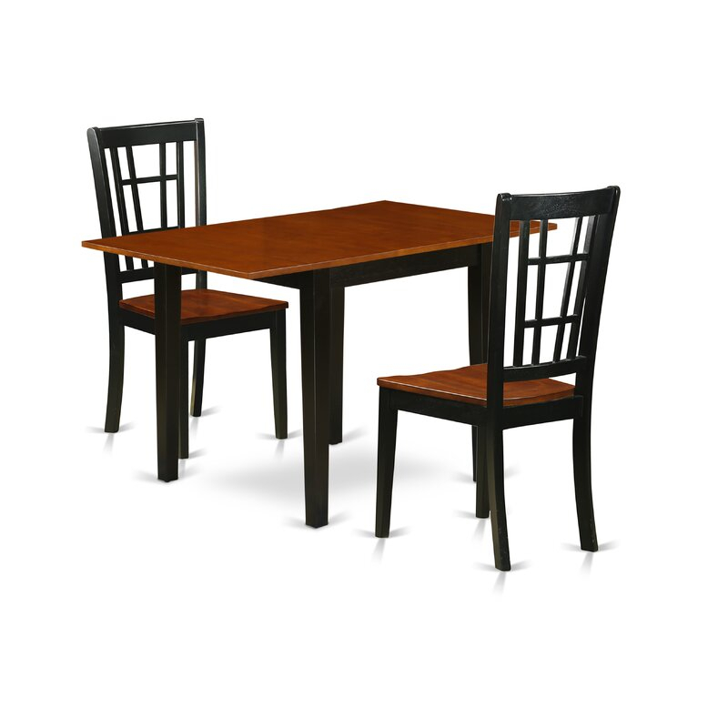 Winston Porter Jameel Drop Leaf Rubberwood Solid Wood Pertaining To Most Popular Boothby Drop Leaf Rubberwood Solid Wood Pedestal Dining Tables (View 10 of 15)