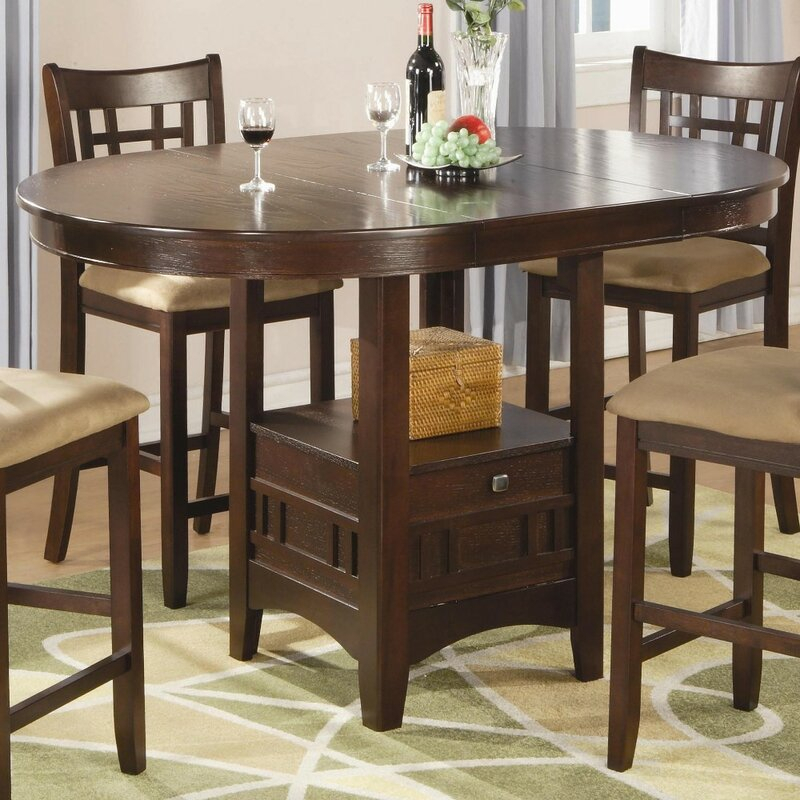 Winston Porter Jeffords Counter Height Extendable Solid Throughout Current Hearne Counter Height Dining Tables (View 12 of 15)