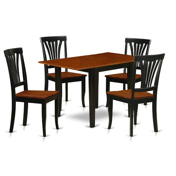 Winston Porter Maery Drop Leaf Rubberwood Solid Wood For Most Current Boothby Drop Leaf Rubberwood Solid Wood Pedestal Dining Tables (View 14 of 15)