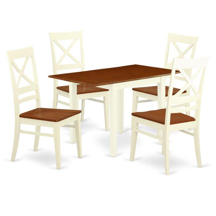 Winston Porter Warwich Drop Leaf Rubberwood Solid Wood For Most Popular Villani Drop Leaf Rubberwood Solid Wood Pedestal Dining Tables (View 8 of 15)