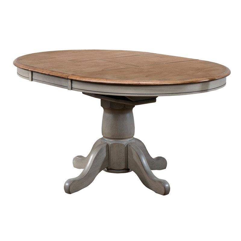 Wonderly Pedestal Extendable Solid Wood Dining Table Pertaining To Most Popular Rubberwood Solid Wood Pedestal Dining Tables (View 12 of 15)