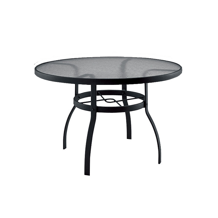 Woodard Deluxe 42 Inch Round Glass Dining Table Throughout Most Popular Darbonne 42'' Dining Tables (View 3 of 15)