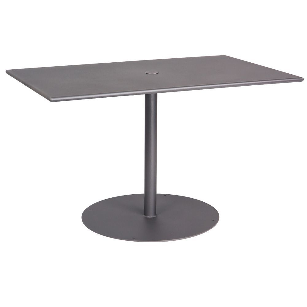 """Woodard Wrought Iron Ada 48"""" Rectangular Dining Table Inside Most Popular Exeter 48'' Pedestal Dining Tables (Photo 13 of 15)"""