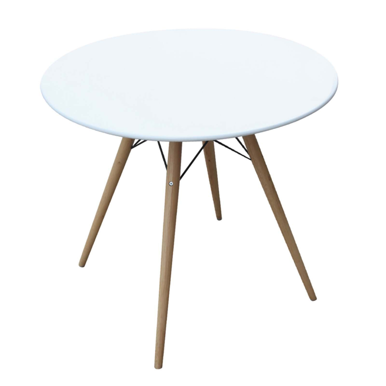 """Woodleg 36"""" Fiberglass Top Dining Table, White In Most Recent Menifee 36'' Dining Tables (View 3 of 15)"""