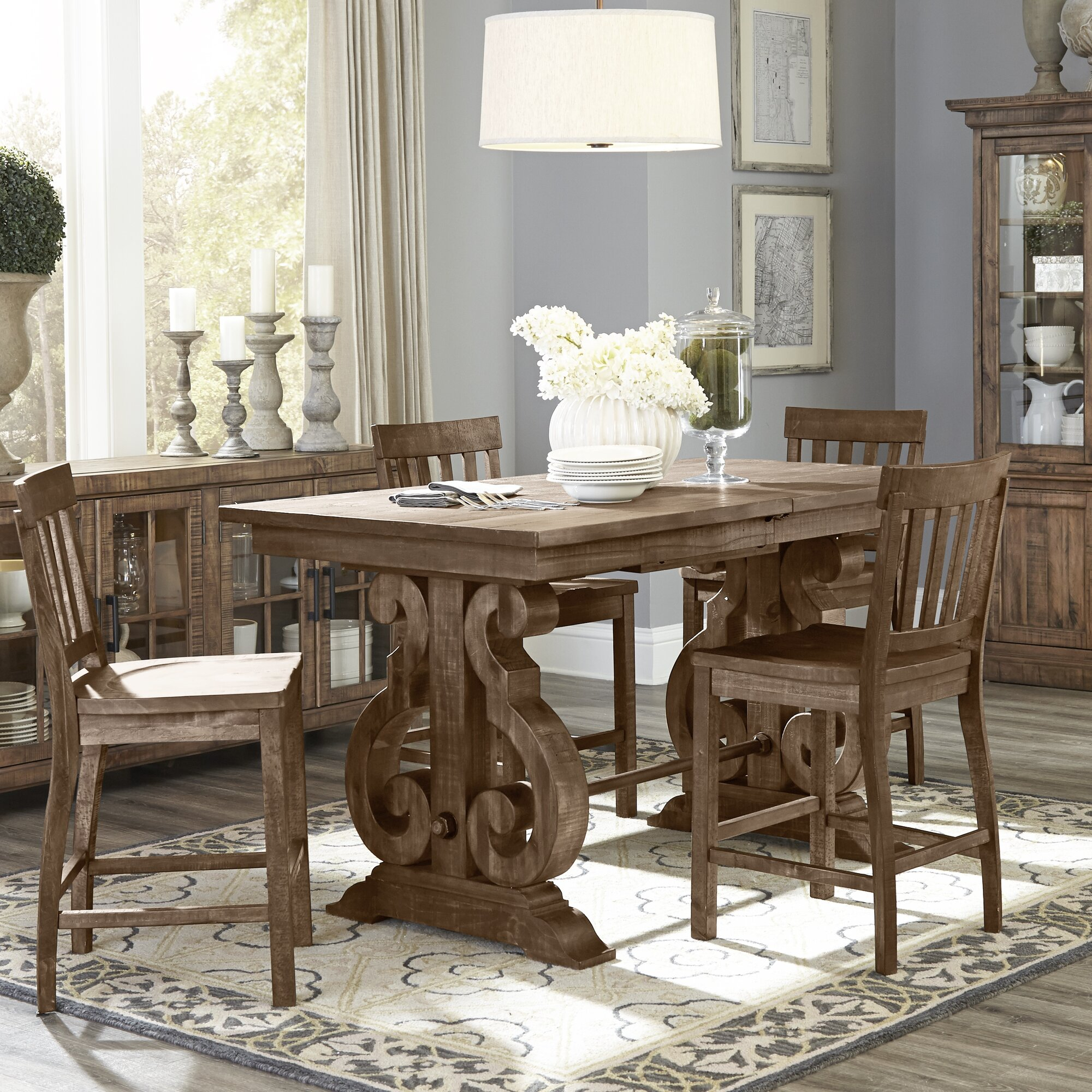 World Menagerie Devereaux Rectangular Counter Height Throughout Newest Dallin Bar Height Dining Tables (View 15 of 15)