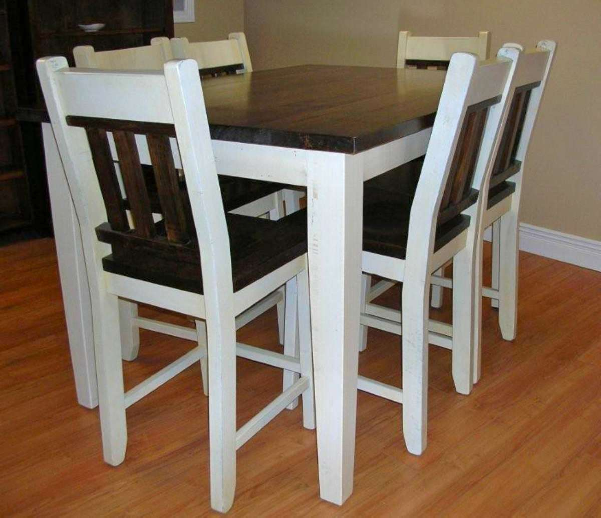 Wormy Maple 7 Piece Bistro Table Set – Solid Wood With Regard To Best And Newest Drake Maple Solid Wood Dining Tables (Photo 7 of 15)