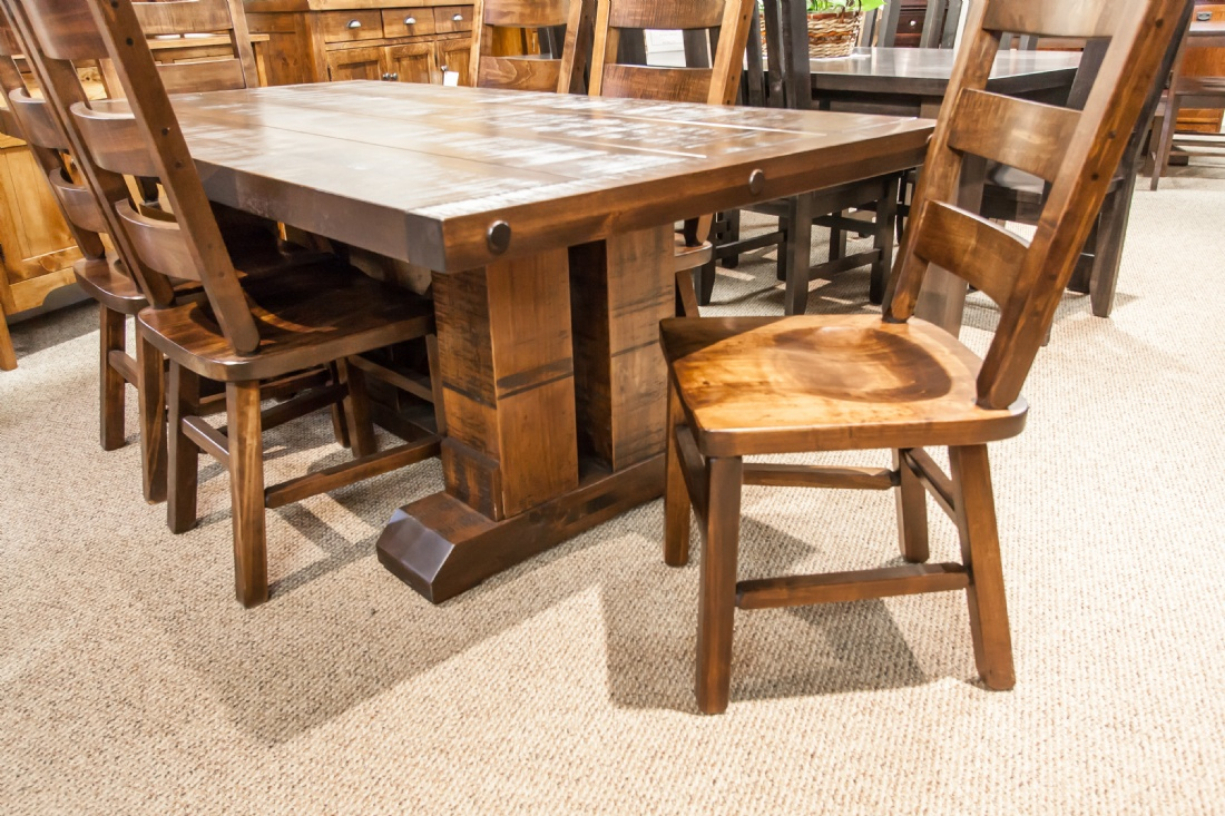 Wormy Maple Grimshaw Double Pedestal Table – Lloyd'S Throughout Most Popular Gaspard Maple Solid Wood Pedestal Dining Tables (View 11 of 15)