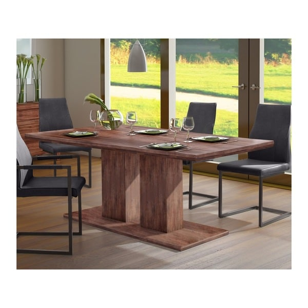 Yen Contemporary 63 Inch Long Acacia Wood Dining Table For Current Bekasi 63'' Dining Tables (View 3 of 15)