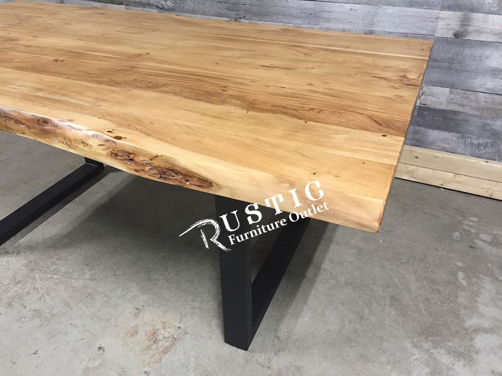 Yosemite Live Edge Acacia Wood Dining Table With U Legs With Regard To Most Recent Folcroft Acacia Solid Wood Dining Tables (View 12 of 15)