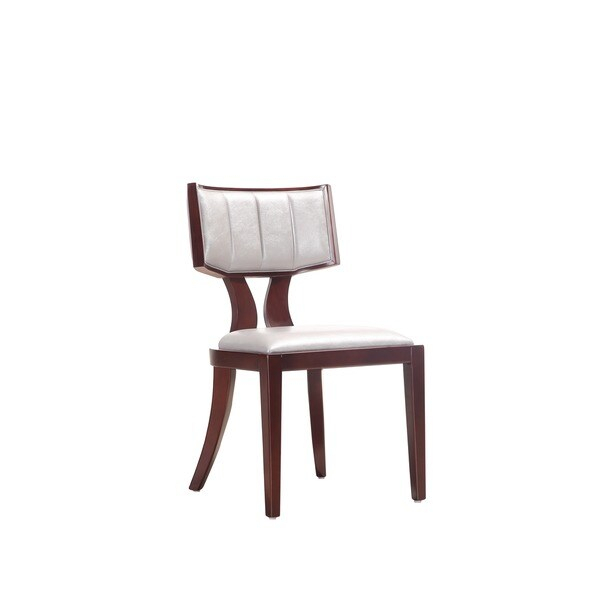 Zeus Leather Dining Chairs (Set Of 2) – Overstock – 7286864 Intended For Newest Zeus  (View 6 of 15)