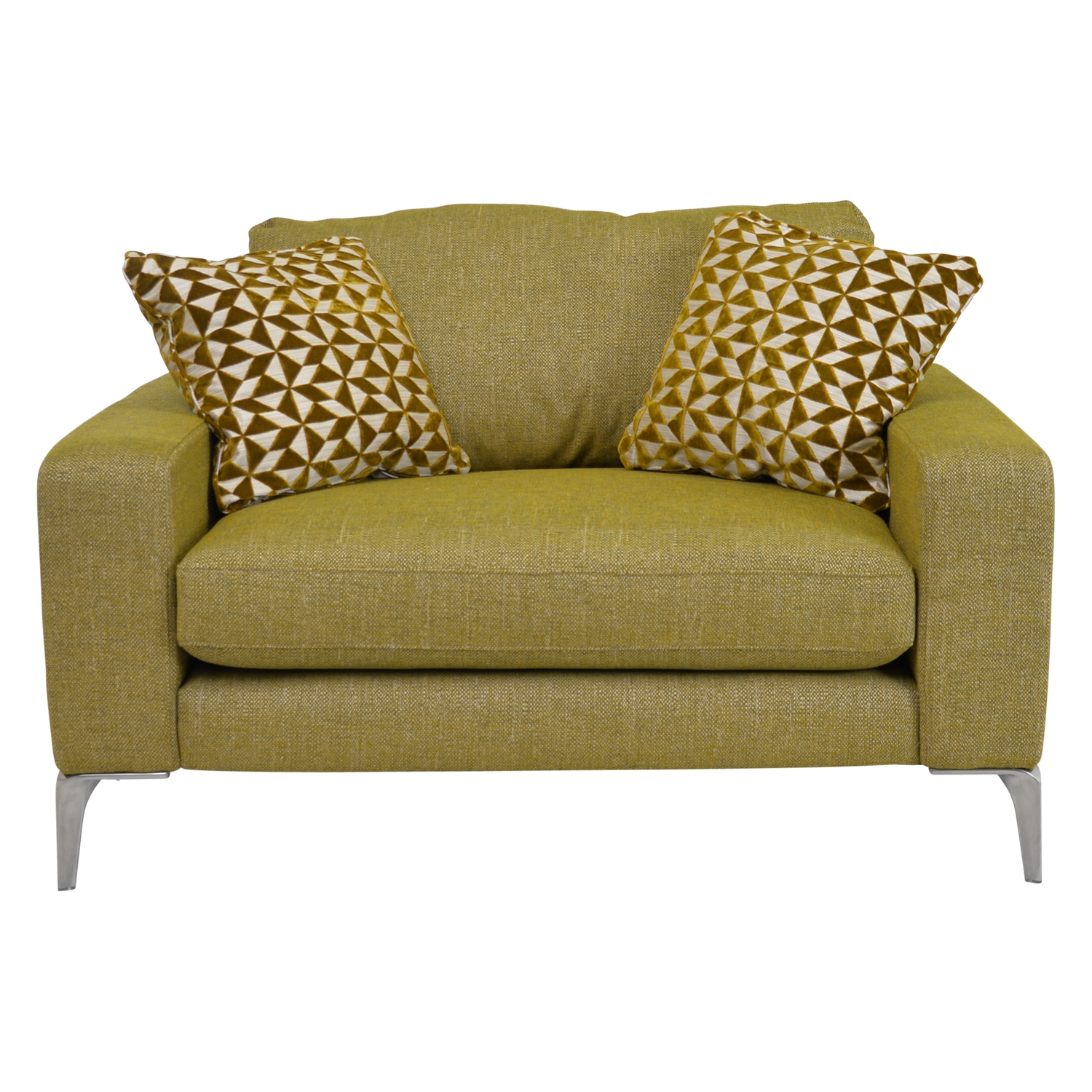1 Seater Fabric Brown Cuddler Swivel Chair With Regard To Cuddler Swivel Sofa Chairs (View 3 of 15)