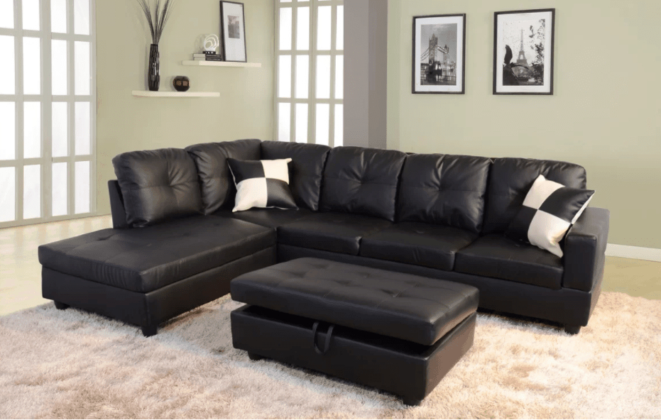 100 Awesome Sectional Sofas Under $1,000 (%%Currentyear Inside Wynne Contemporary Sectional Sofas Black (View 6 of 15)