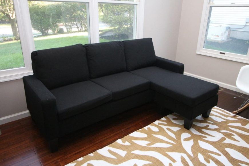 13 Cheap Sectional Sofas Under $500 For 2020 Throughout Wynne Contemporary Sectional Sofas Black (View 15 of 15)
