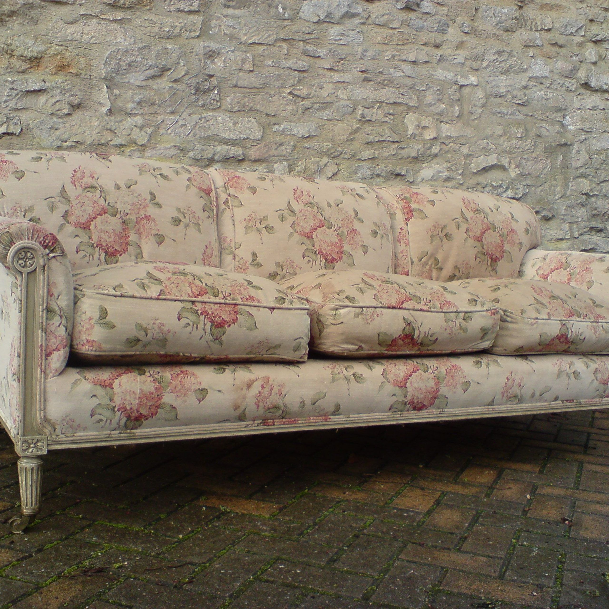 1870 1890 Antique Howard & Sons Sofa   Cottage Style Sofa Inside Shabby Chic Sofas (View 3 of 15)