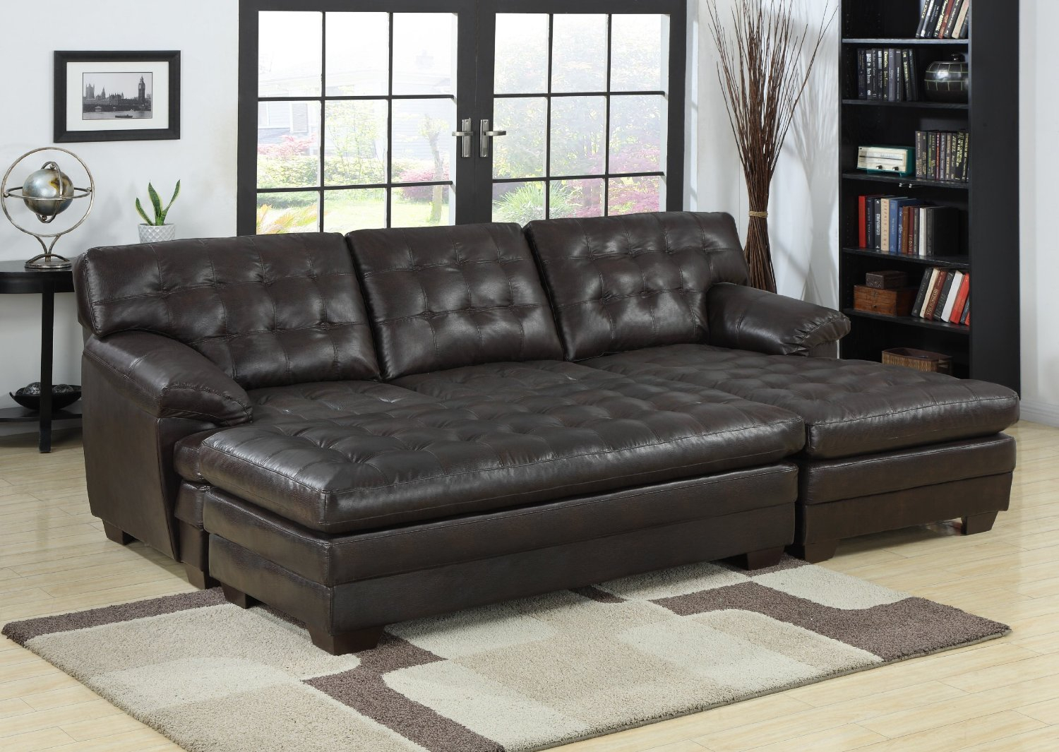 2 Piece Sectional Sofa With Chaise Design – Homesfeed With Regard To Copenhagen Reclining Sectional Sofas With Right Storage Chaise (View 12 of 15)