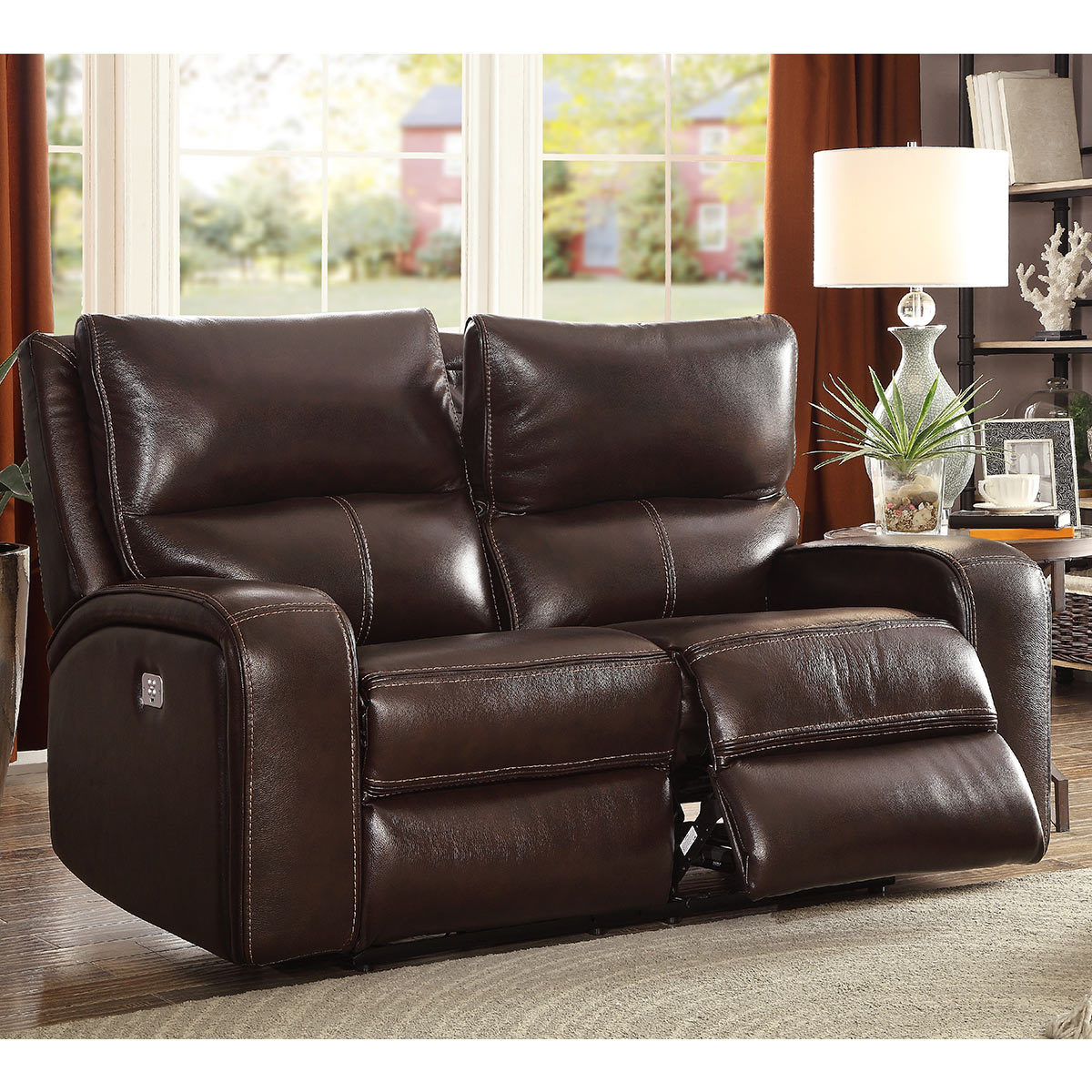 2 Seat Leather Reclining Sofa – Sofa Design Ideas Within Contempo Power Reclining Sofas (View 14 of 15)