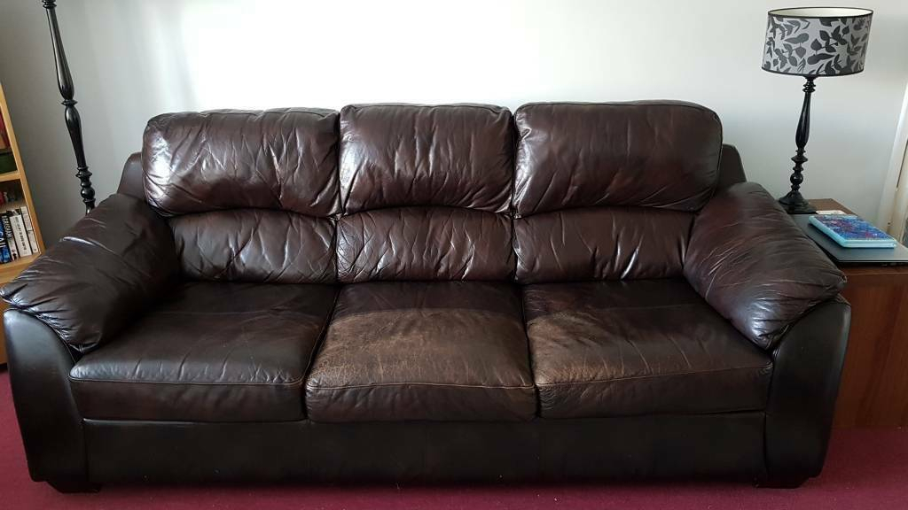 3 Seater Brown Leather Sofa | In Bingham, Nottinghamshire In 3 Seater Leather Sofas (View 3 of 15)