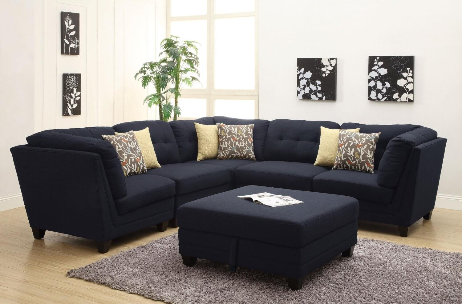37 Beautiful Sectional Sofas Under $1,000 Within Dream Navy 3 Piece Modular Sofas (View 4 of 15)