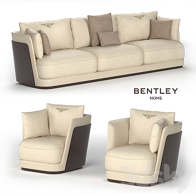 3D Models: Sofa – Richmond Sofa & Armchair Bentley Home With Richmond Sofas (View 13 of 15)