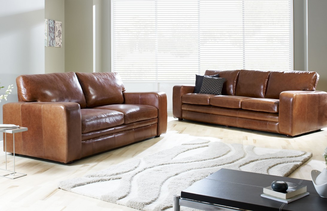 4 Seater | Abbey Leather Sofa | Leather Sofas In 4 Seat Leather Sofas (View 12 of 15)