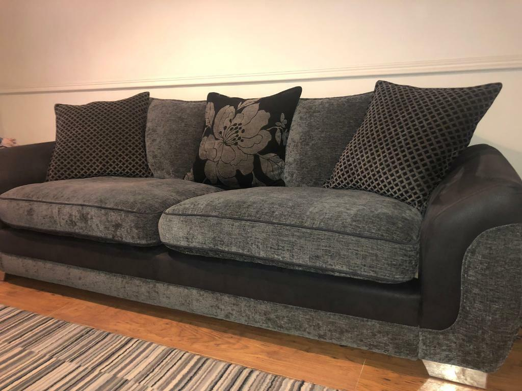4 Seater Grey Sofa | In Taverham, Norfolk | Gumtree With Four Seater Sofas (View 3 of 15)
