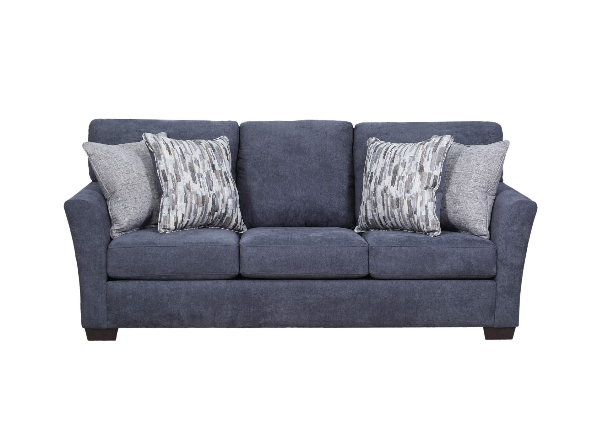 7058 Laf 2 Pc Sectional – Pacific Steel Blue Sit & Sleep In Walker Gray Power Reclining Sofas (View 10 of 15)