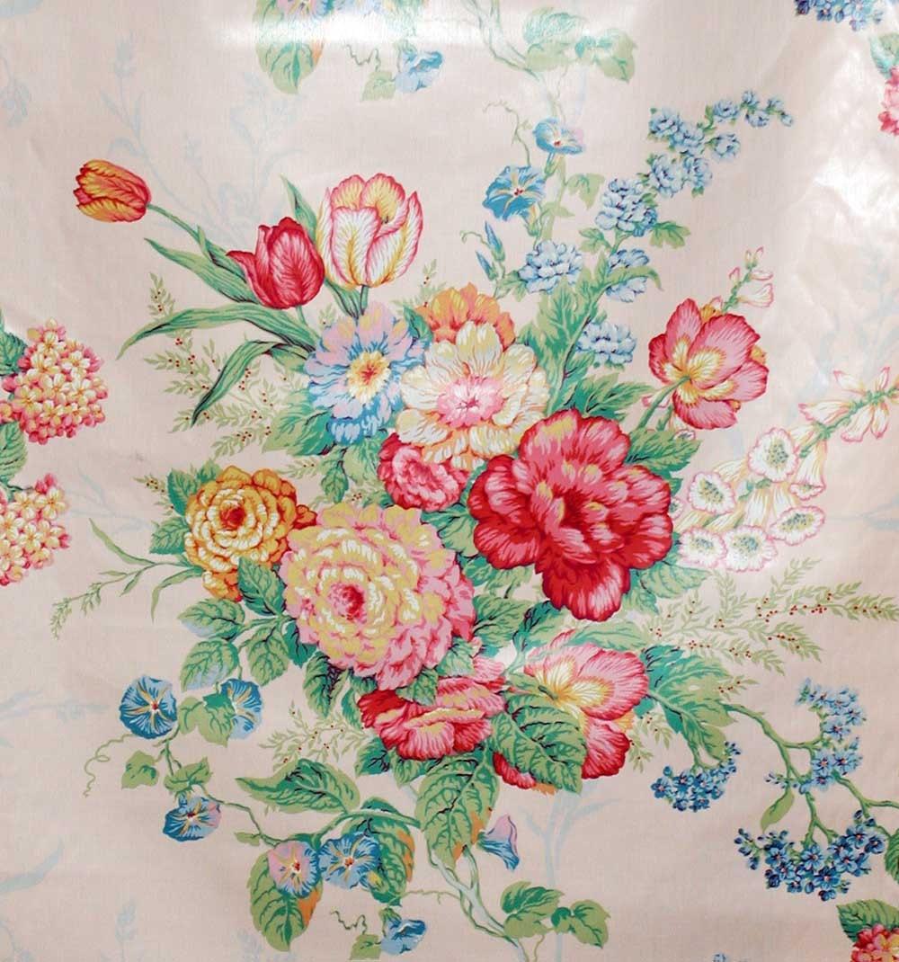 80S Mario Buatta Floral Chintz Fabric Melanie In Pertaining To Chintz Fabric Sofas (View 10 of 15)