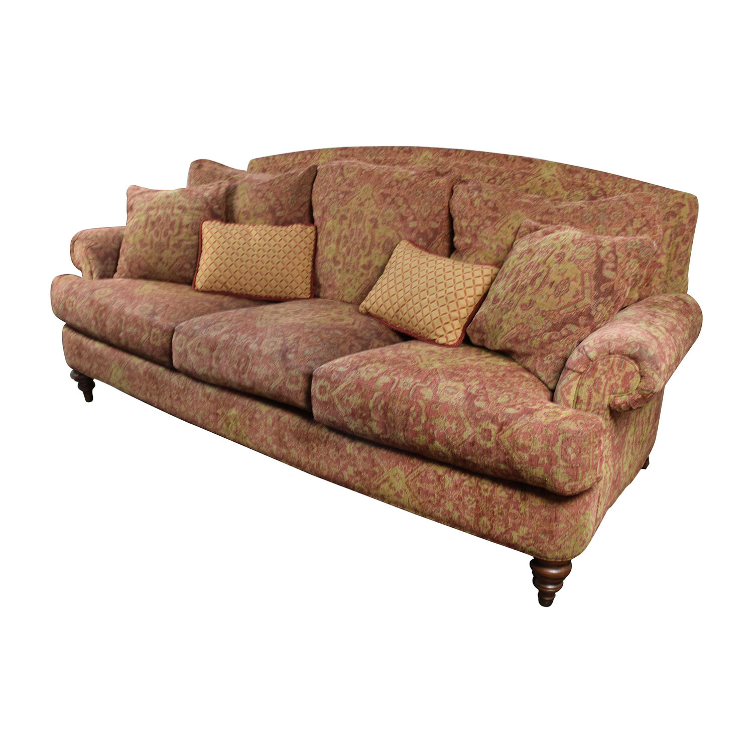 85% Off – Ethan Allen Ethan Allen Paisley Sofa With Toss Inside Ethan Allen Sofas And Chairs (View 4 of 15)