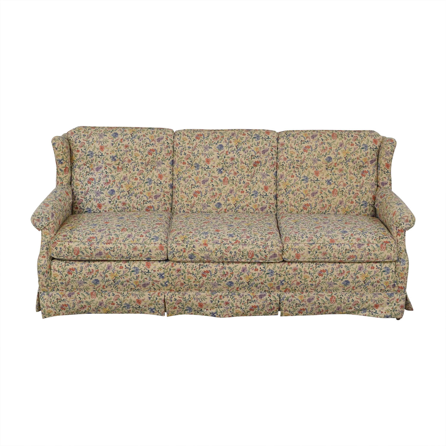 86% Off – Ethan Allen Ethan Allen Floral Three Cushion Throughout Ethan Allen Sofas And Chairs (View 12 of 15)