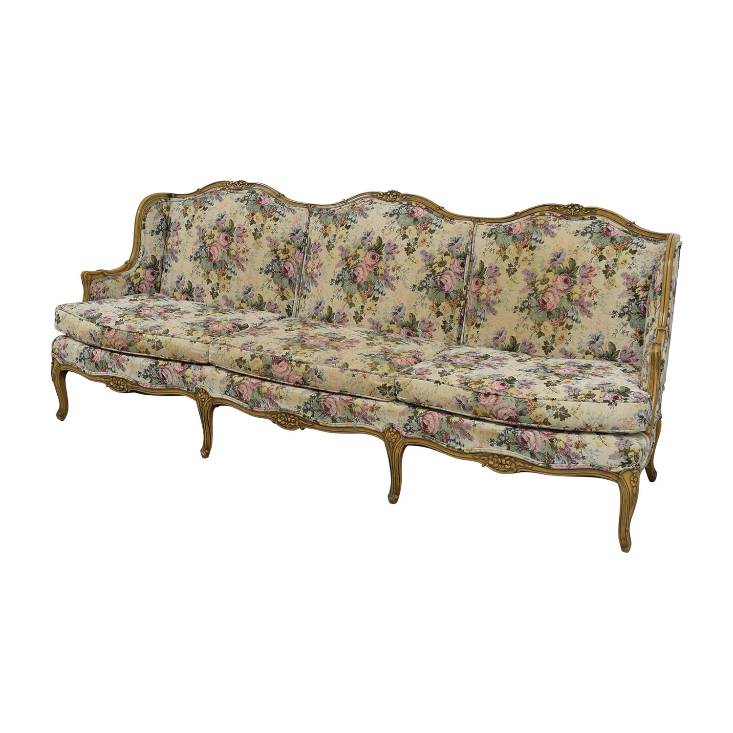 87% Off – Vintage Floral Sofa / Sofas Inside Floral Sofas And Chairs (View 5 of 15)