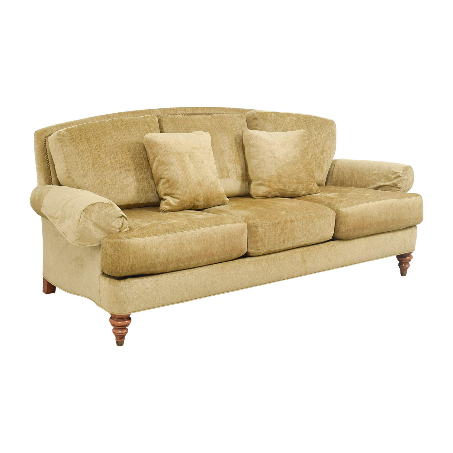90% Off – Ethan Allen Ethan Allen Hyde Gold Three Cushion In Ethan Allen Sofas And Chairs (View 5 of 15)
