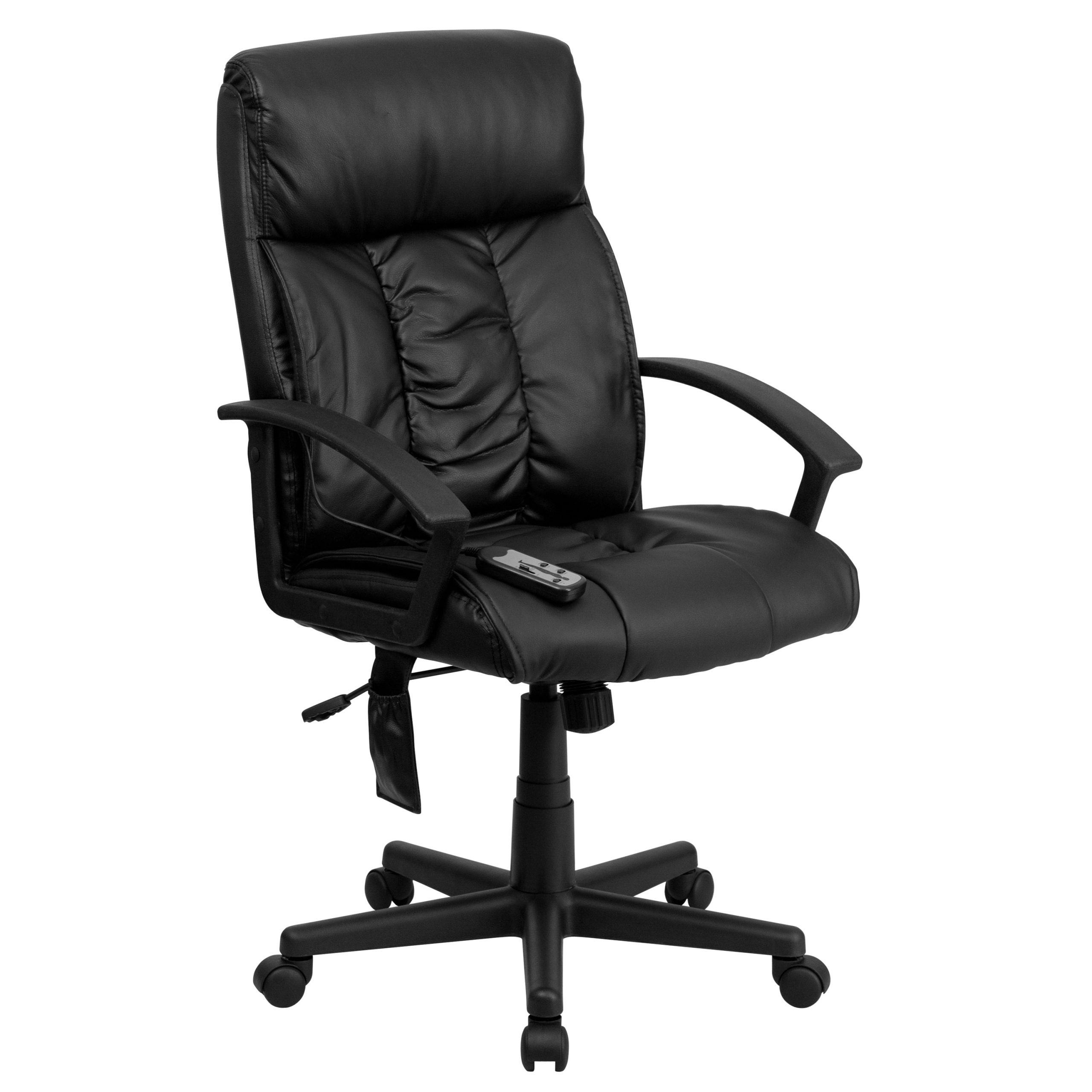 A Line Furniture Comfy Massaging Black Leather Executive Regarding Office Sofas And Chairs (View 7 of 15)
