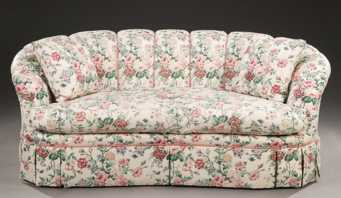 A Modern Floral Chintz Upholstered Sofa And | #1526734 Throughout Chintz Sofas (View 9 of 15)