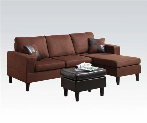 Acme Furniture Robyn Reversible Chaise Sectional And Throughout Clifton Reversible Sectional Sofas With Pillows (View 8 of 15)