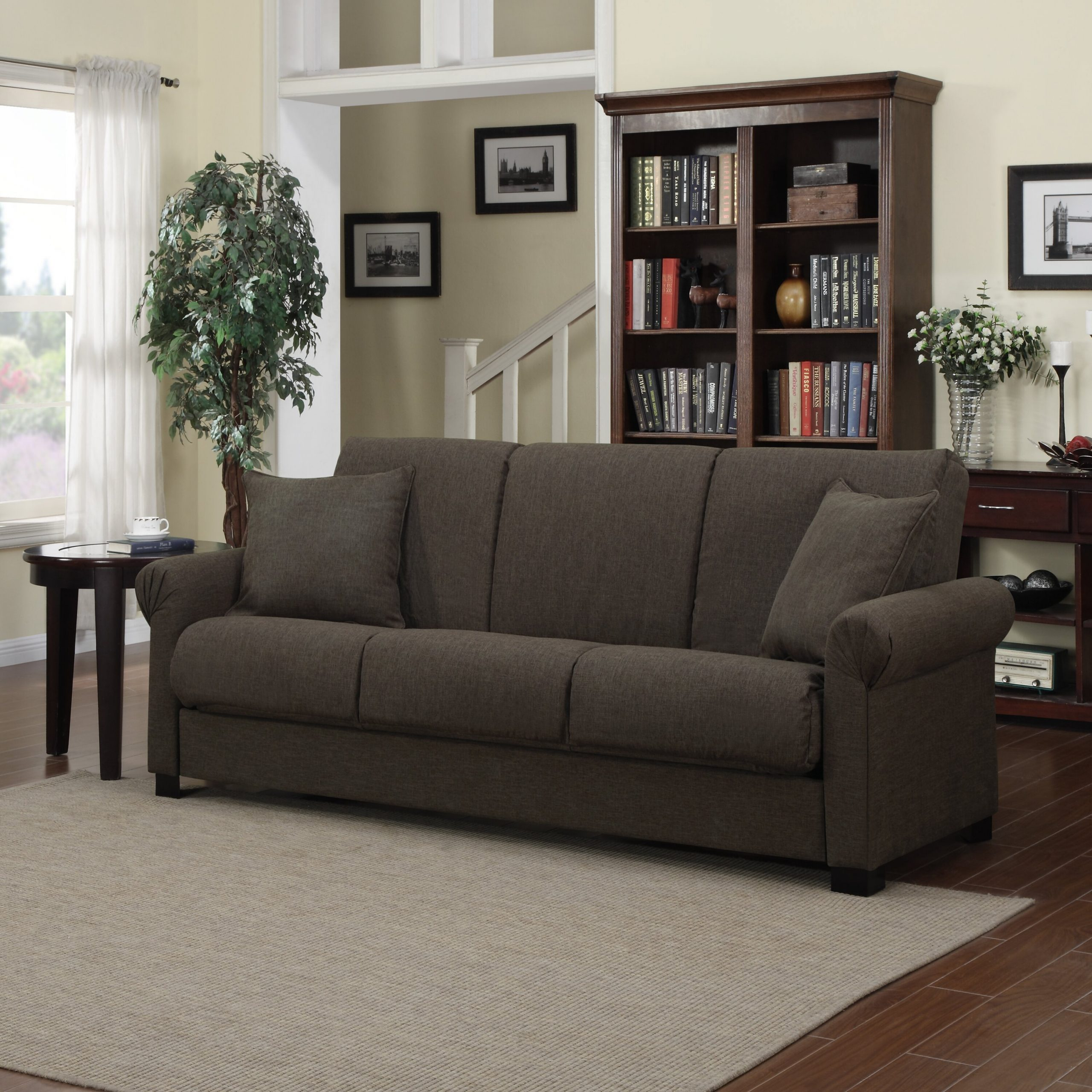 Alcott Hill Lawrence Full Convertible Upholstered Sleeper In Convertible Sectional Sofas (View 13 of 15)
