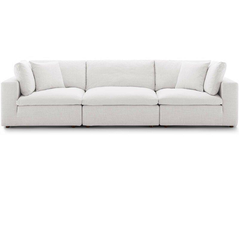 """Allmodern Trevor Modular 118"""" Square Arms Sofa & Reviews Within Trevor Sofas (View 11 of 15)"""