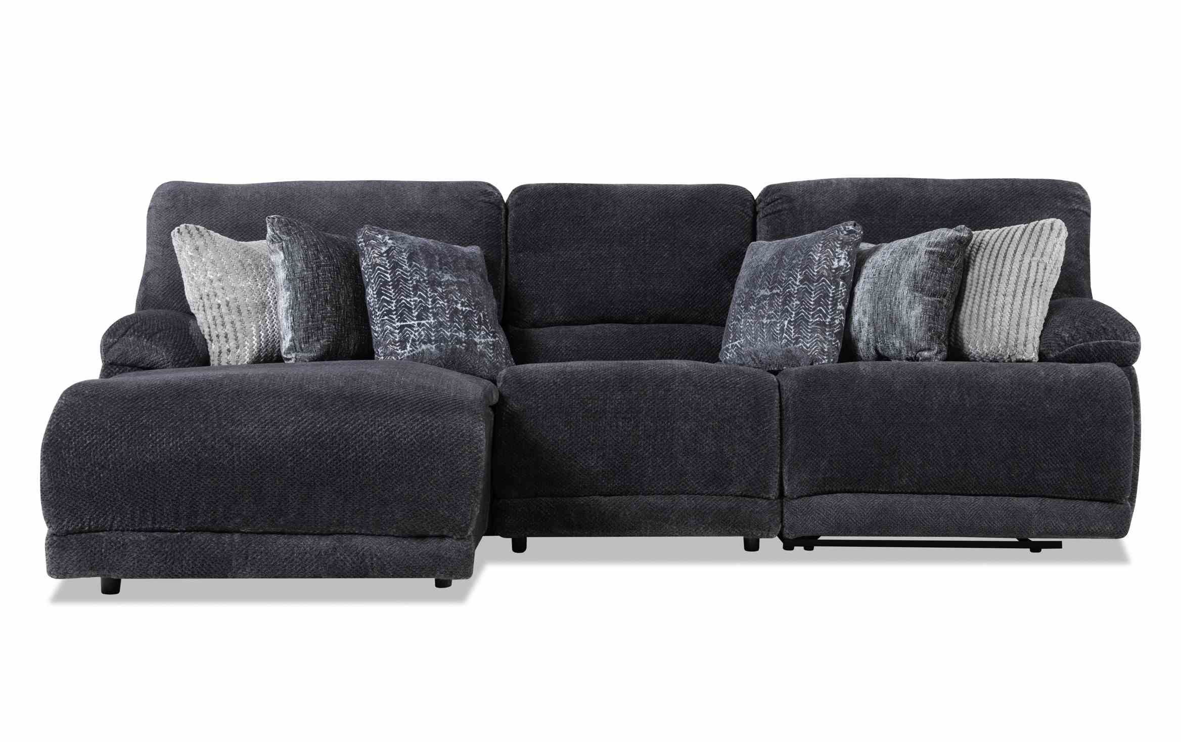 Alpine 3 Piece Right Arm Facing Power Reclining Sectional Pertaining To Contempo Power Reclining Sofas (View 6 of 15)