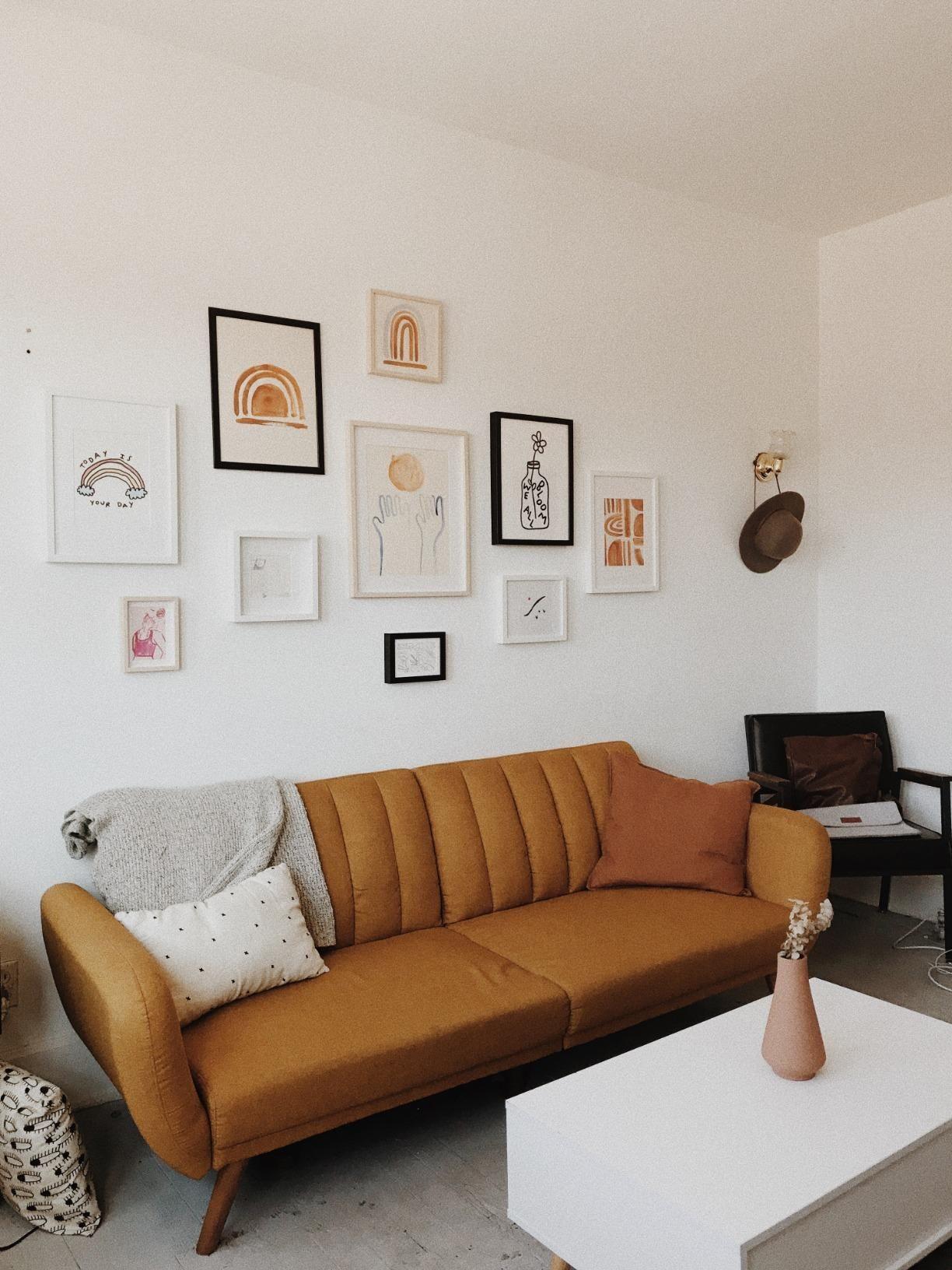 Amazon: Novogratz Brittany Sofa Futon, Premium Linen Within Brittany Sectional Futon Sofas (View 12 of 15)