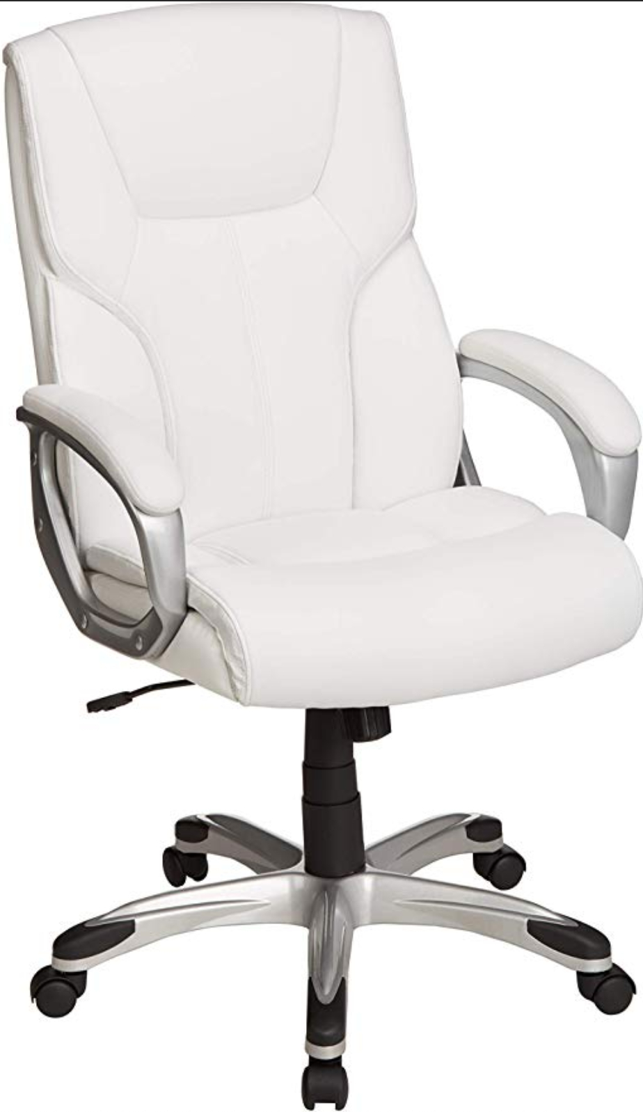 Amazonbasics High Back Executive Swivel Office Chair Throughout High Back Sofas And Chairs (View 10 of 15)