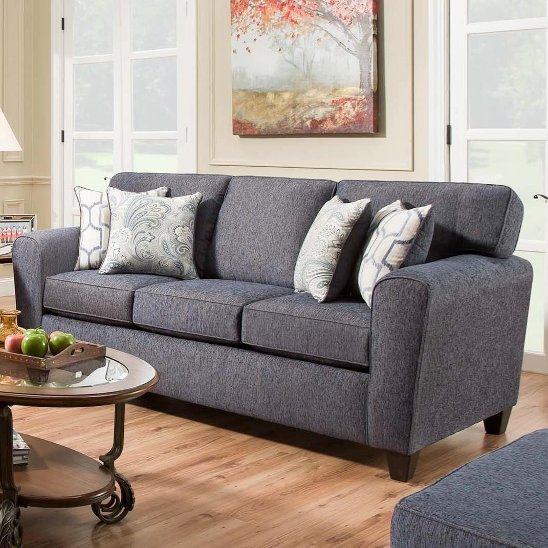 American Furniture Uptown 3103 2761 Sofa With Casual Style Inside Casual Sofas And Chairs (View 13 of 15)