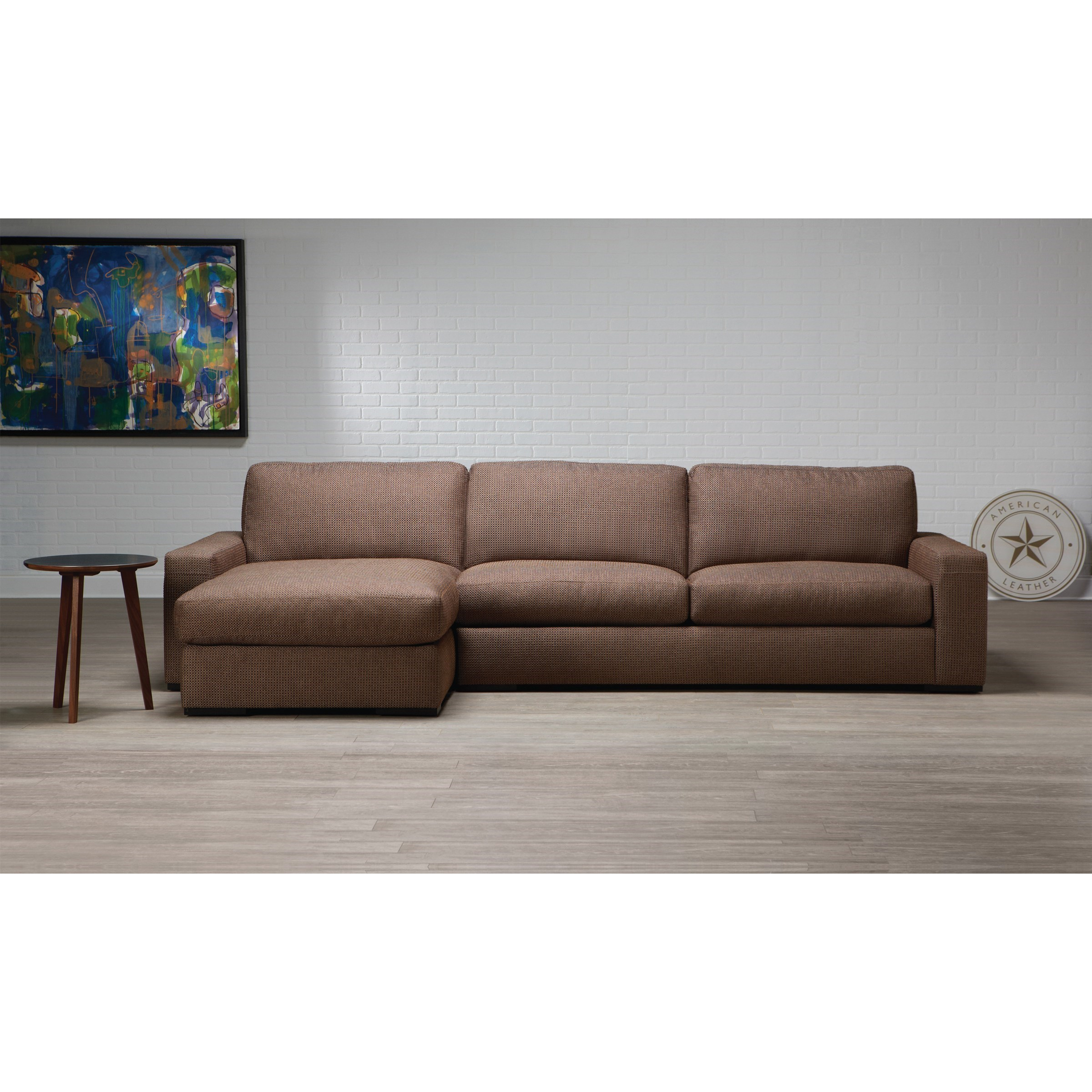 American Leather Westchester Contemporary 2 Piece Pertaining To 2Pc Connel Modern Chaise Sectional Sofas Black (View 11 of 15)