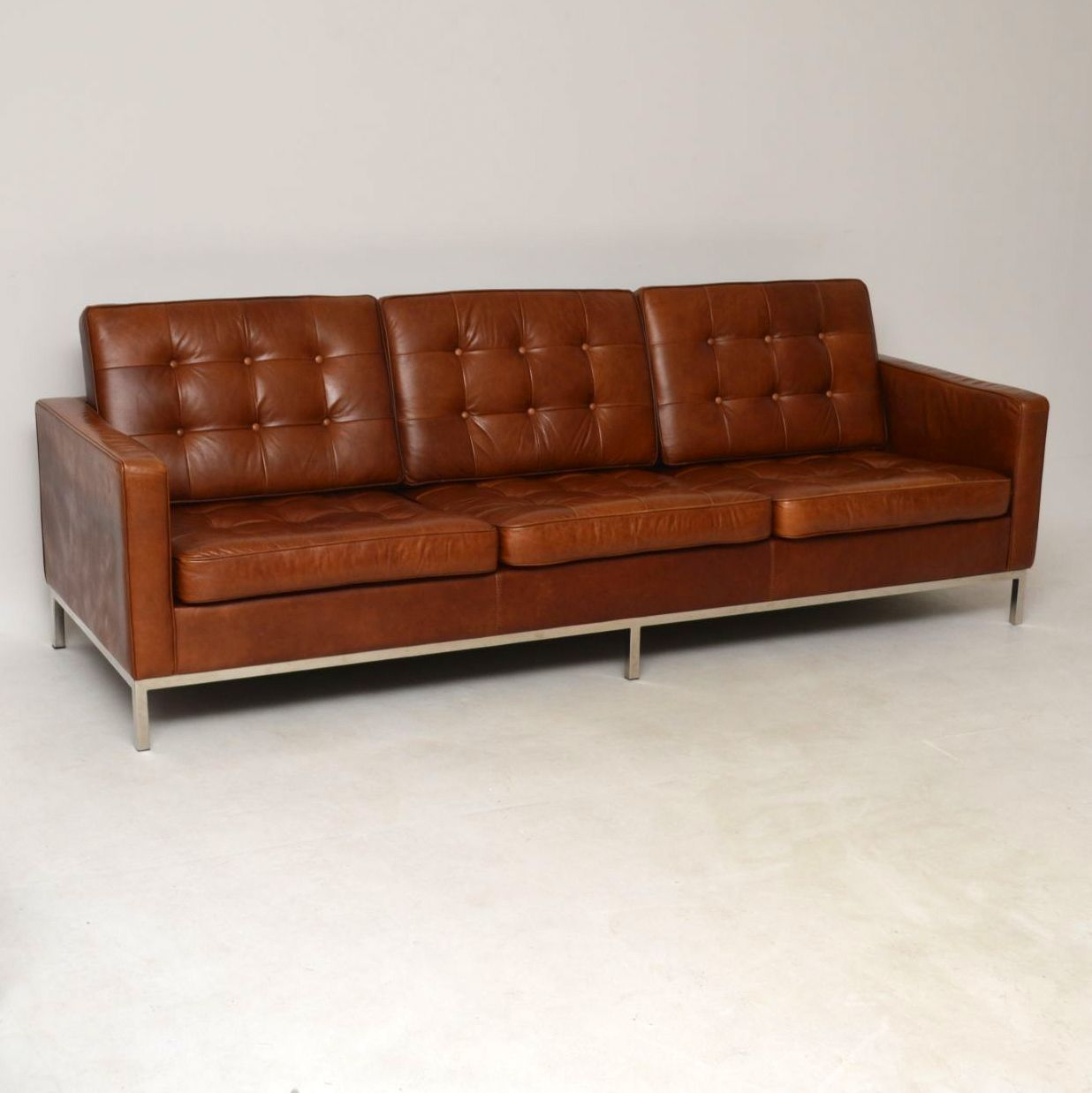 An Absolutely Superb Sofa In Leather And Chrome, This Was Intended For Florence Knoll Leather Sofas (View 9 of 15)