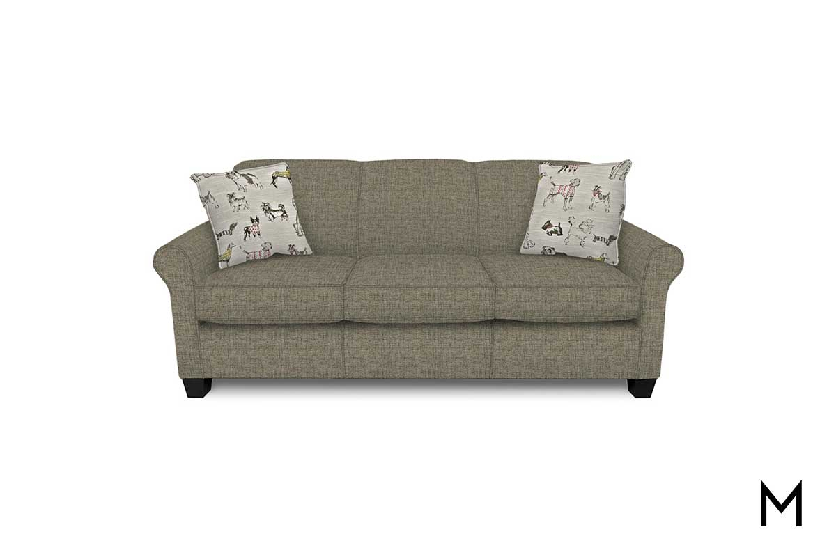 Angie Sofa In Hadley Gray With Hadley Small Space Sectional Futon Sofas (View 9 of 15)