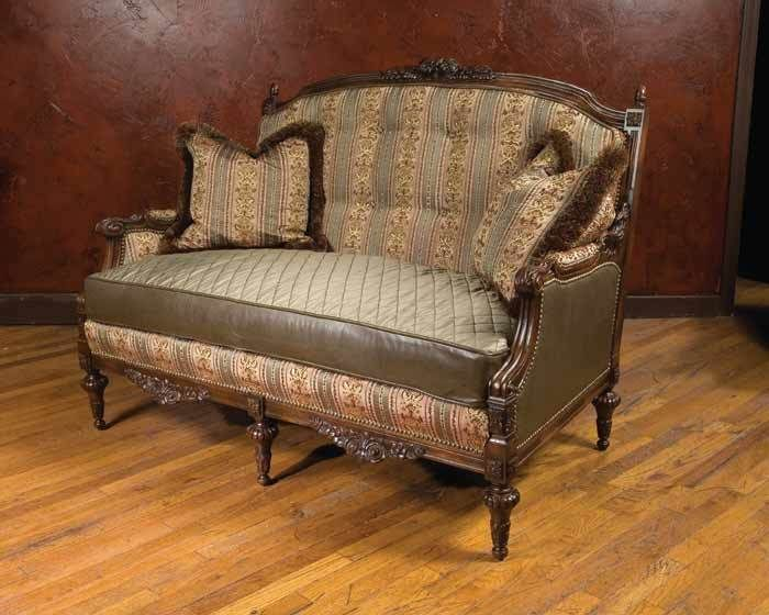 """""""Antebellum"""" Pastel Floral Chintz Loveseat From Victorian Within Chintz Floral Sofas (View 9 of 15)"""