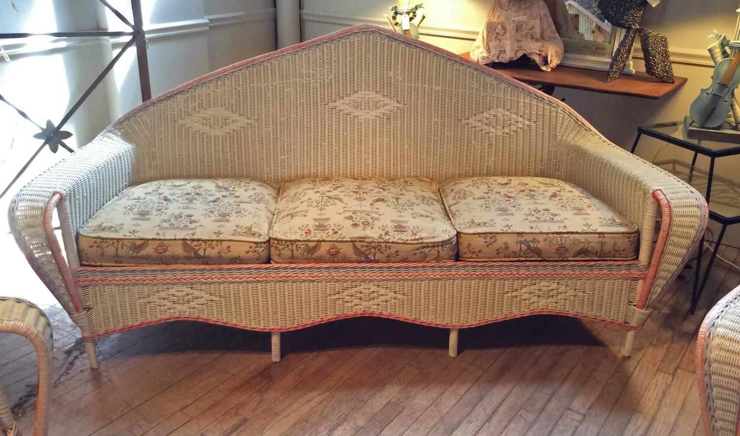 Antique 1930S Wicker Sofa And Pair Of Chairs At 1Stdibs For 1930S Sofas (Photo 7 of 15)