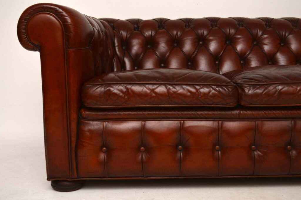 Antique Leather 3 Seater Chesterfield Sofa – Marylebone For Vintage Chesterfield Sofas (View 14 of 15)