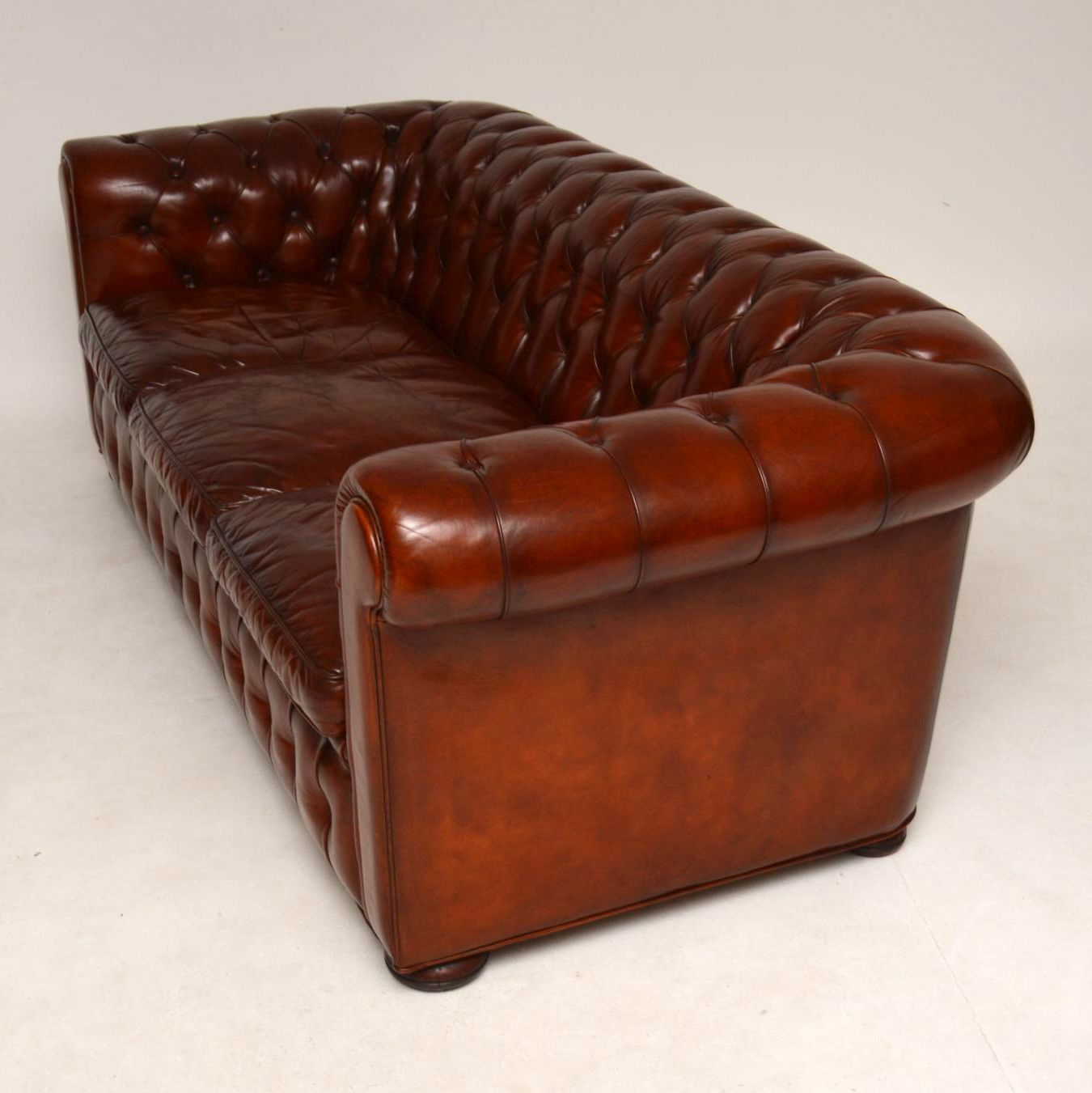 Antique Leather 3 Seater Chesterfield Sofa – Marylebone Regarding Vintage Chesterfield Sofas (View 4 of 15)