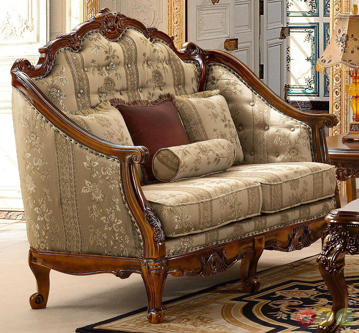 Antique Style Luxury Formal Living Room Furniture Set Hd 953 Pertaining To Old Fashioned Sofas (View 1 of 15)